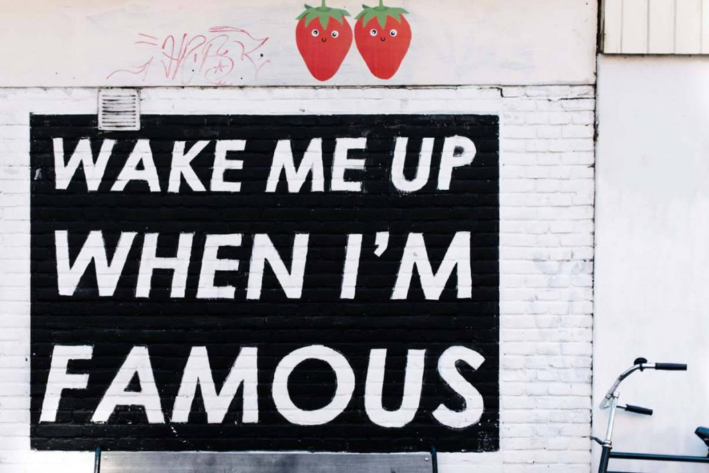 Wake Me Up When Im Famous Quote